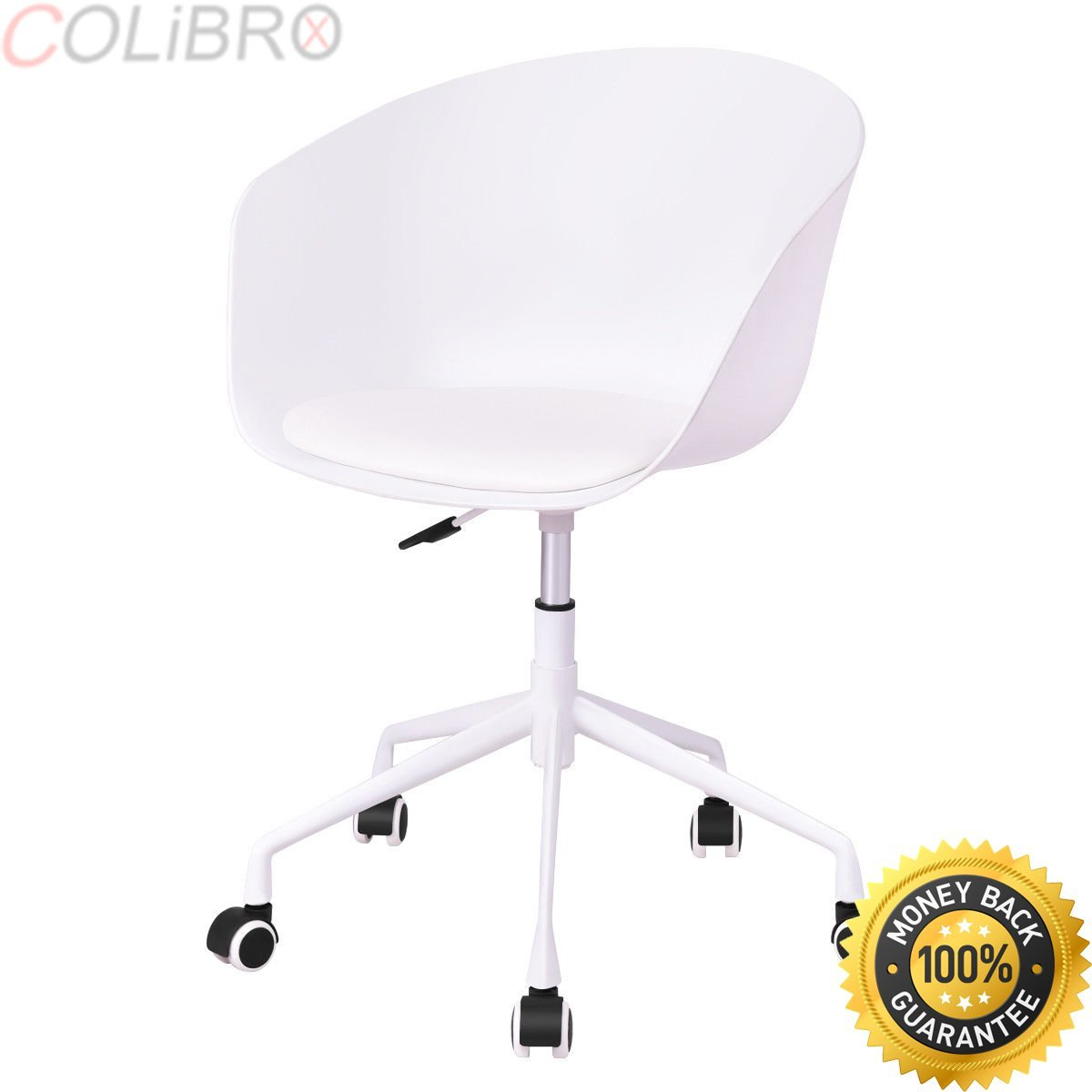 COLIBROX--Set of 2 Desk Chair PP Swivel Height Adjustable Rolling Home Office Task White.office chairs on sale.amazon best rolling office chair.white desk chair.desk chair amazon.rolling chair amazon.
