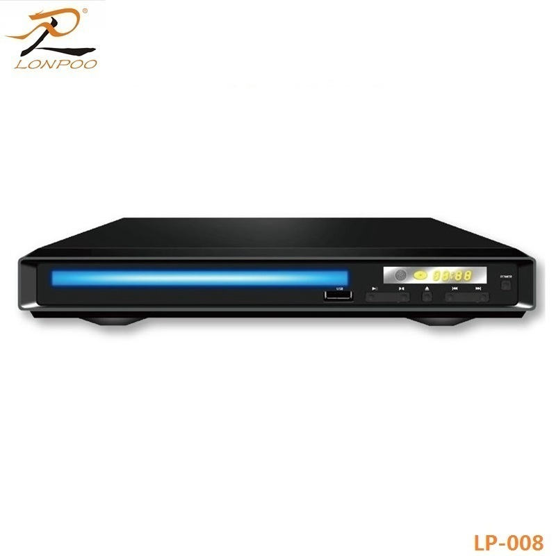 Longping Ukuran Mini Logam Top Home Video DVD VCD Player