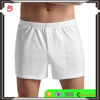 Wholesale new Men's Custom Cotton Sporty Knit Boxer Brief comfortable underwear cotton jersey boxer shorts