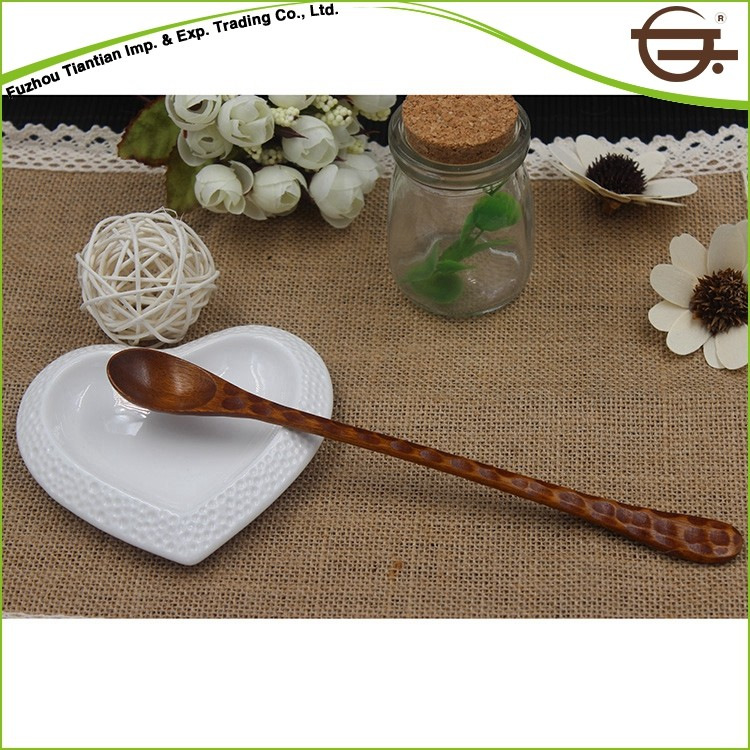 High Quality Salad Mix Nature Wood Tea Spoon Size