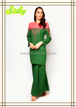 New arrival Abaya Ladies Baju Kurung Modern Beading Islamic Clothing Egyptian Islamic Clothing
