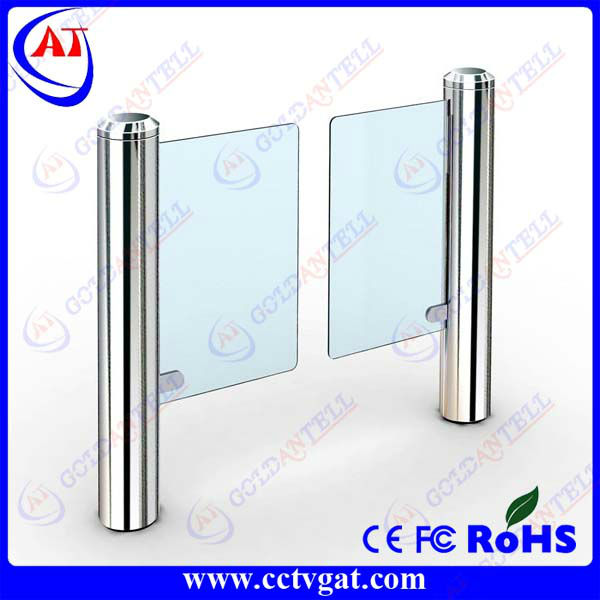 Fast pass bi-directional security door supermarket turnstiles automatic swing autogate system