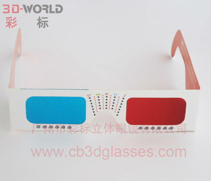 hot promotional gifts red cyan 3d video glasses for sale