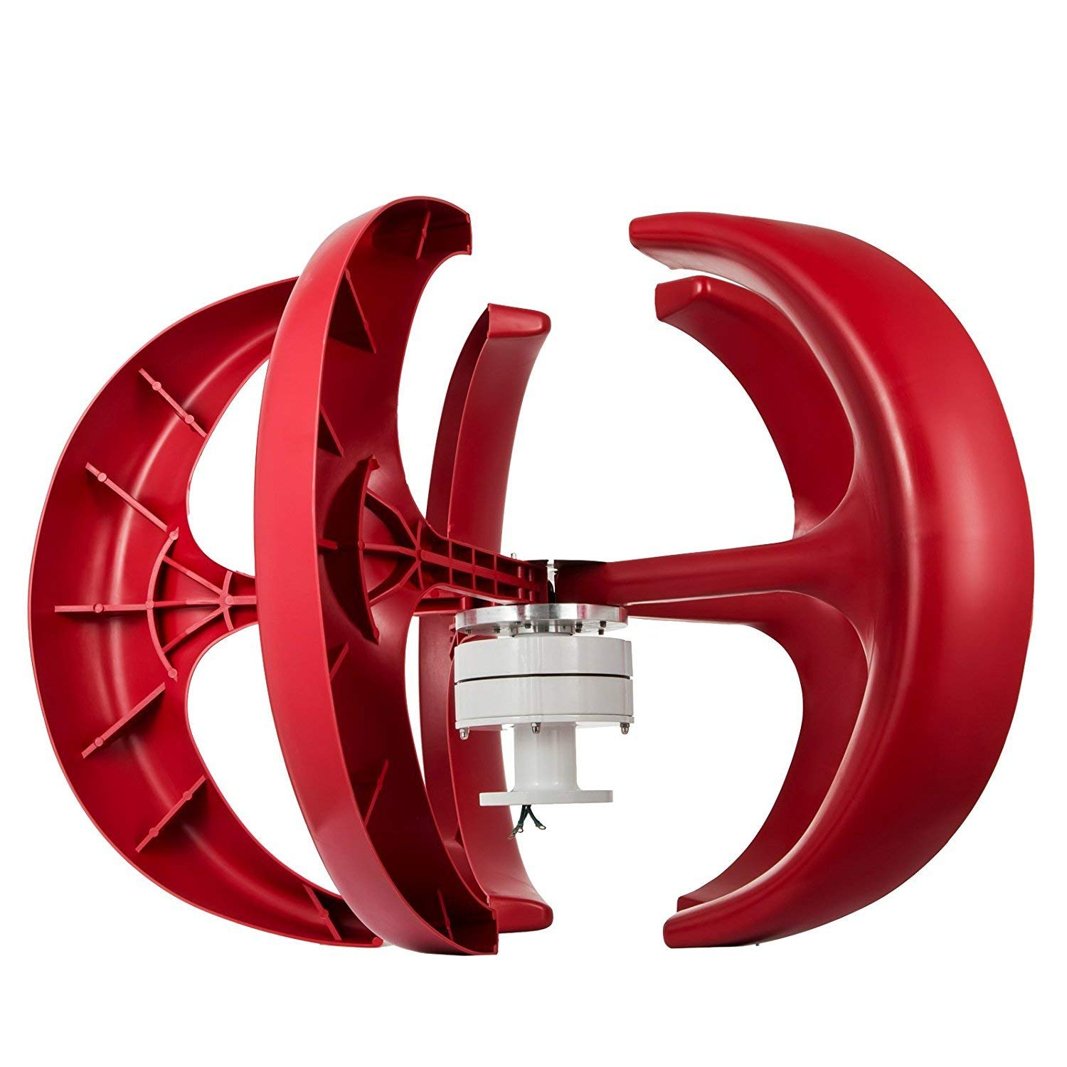 VEVOR Wind Turbine 400W 12V Wind Turbine Generator Red Lantern Vertical Wind Generator 5 Leaves Wind Turbine Kit with Controller No Pole (400W 12V)