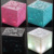 2017 NEW Upgraded Q+ LED Magic Cube Square Mini Bass Colorful Portable Wireless Stereo Bluetooth Q one speaker with FM/TF/AUX