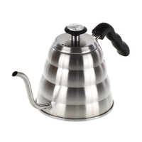 pour over Coffee Kettle with thermometer 1200ml 304 Stainless Steel Kettle Gooseneck spout coffee drip pot Barista Accessories