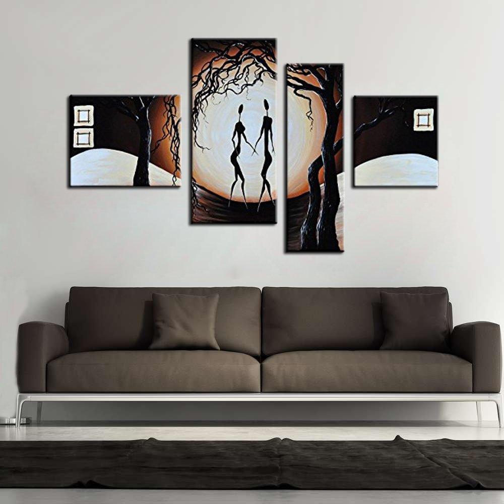 Get quotations · noah art romantic african wall art a couple dancing in moon light 100