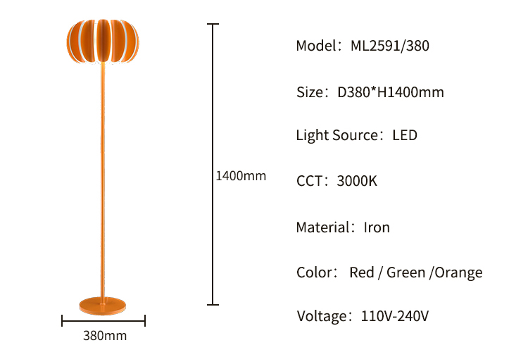 Modern Designer iron 18W 24W 28W Standing Lights LED Floor Lamp
