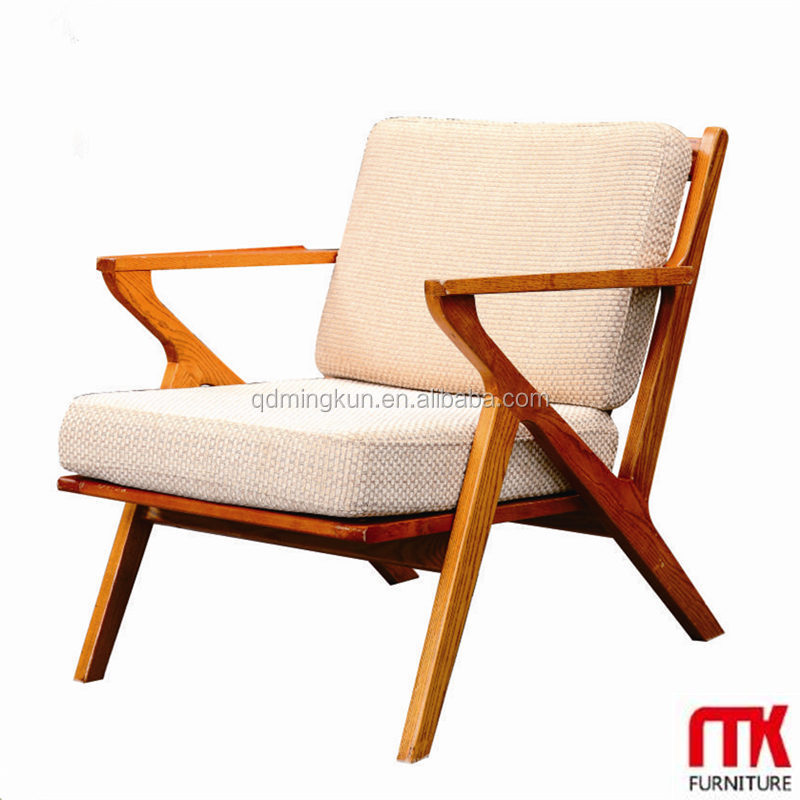 Lasted Long Hot Sale Wooden Frame Armchair With Fabric ...