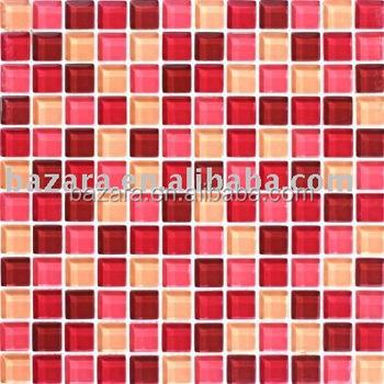Phantasie Farbe Rosa Und Roten Kristall Glasmosaik Fur Wand Bunte