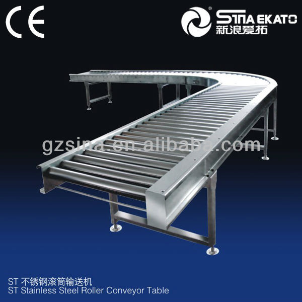 high quality stainless steel roller conveyor belt for cosmetic