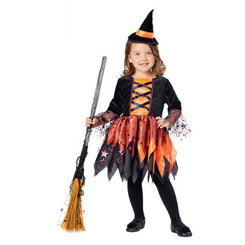 China factory customized witch halloween costumes for little girls wholesale