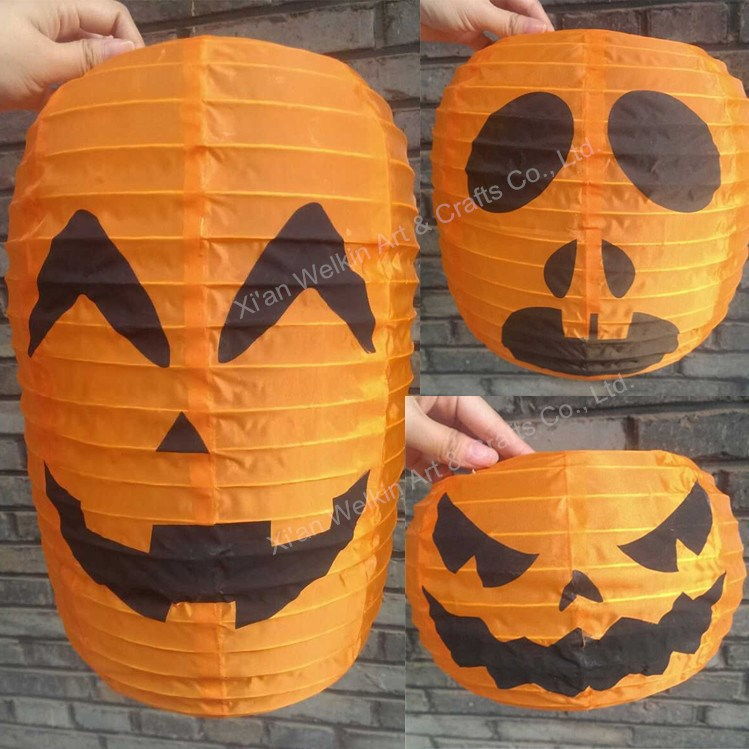 Pumpkin nylon lampion/Party halloween paper lantern/Halloween ghost paper lamp wholesale