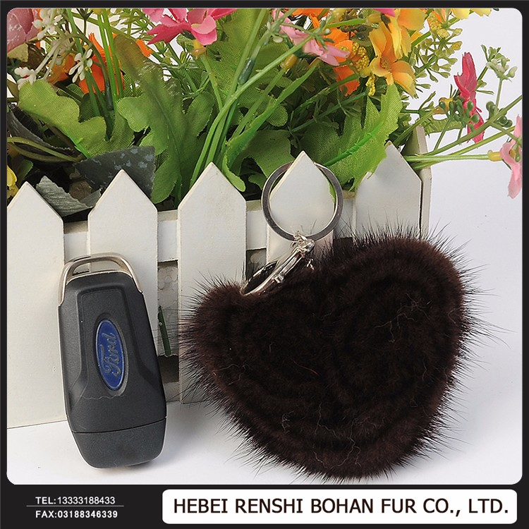 Factory Promotes Colorful Fur Key Chain For Accessories Innovative Mobile Phone Accessories