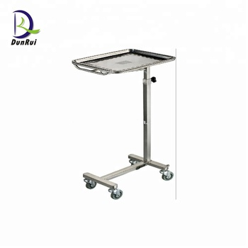 Ce Roved Stainless Steel Tray Tables With Wheels Mayo Table Hydraulic Product On Alibaba