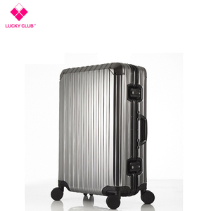 Full metal trolley case Luggage all aluminum alloy universal wheel