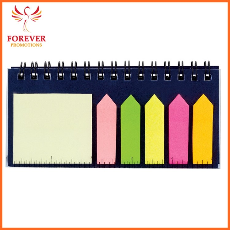 Eco Sticky Notes Sets With Ruler 5 Colors Sticky Flasg 40