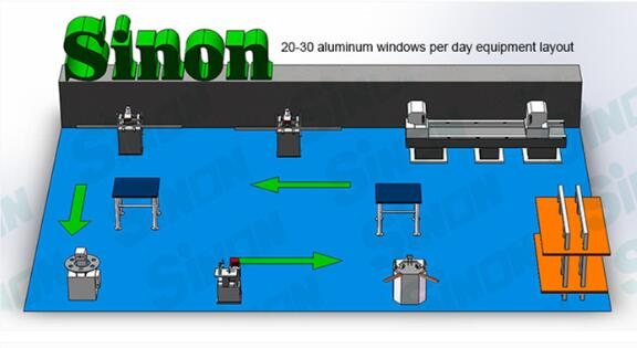 SINON UPVC profiles Copy Routing Machines for PVC Window Making / Single Head Aluminium Copy Router