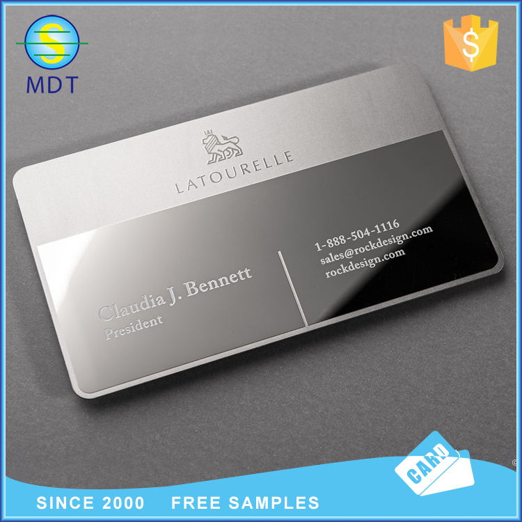 Mdt  O popular Metal business cards NFC gift cards with chip PROMOTION