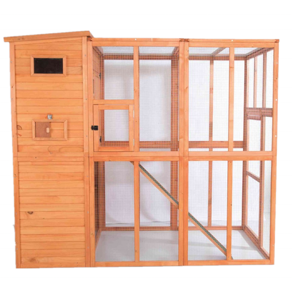 customized weatherproof outdoor cheap large wooden pet cat condo cages