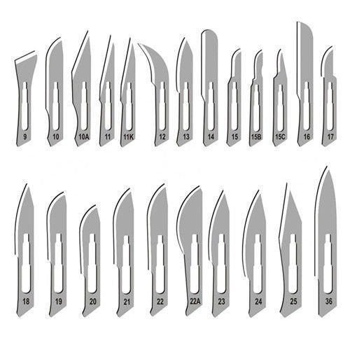 CYNAMED 600 SURGICAL STERILE SCALPEL BLADES #10#11#15#20# 21#22 + 1 SCALPEL HANDLE #3 FREE + SCALPEL HANDLE #4 FREE SURGICAL INSTRUMENTS