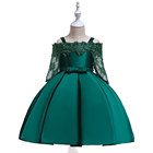 Children Clothes Stock Baby Girl Kids Frock Design Lace Sleeves Baby Girl Birthday Wedding Party Dress L5083