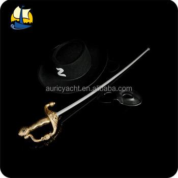 Partido plástico Zorro acessórios espada definido com máscara e chapéu a0582eef0a6