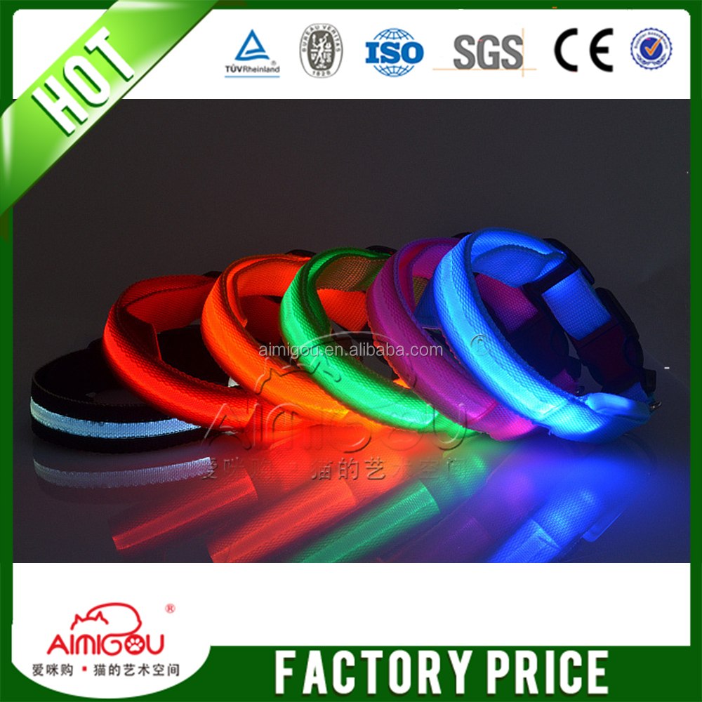 15 YEARS USB Rechargeable Modern Hot Sell Led Light Pet Dog Collar