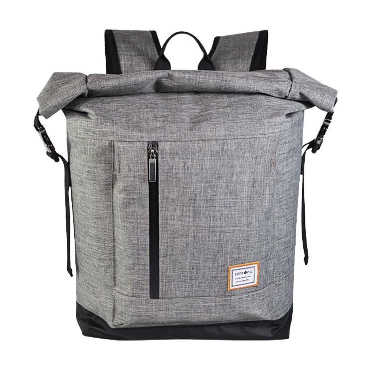 2019 new design 600D waterproof durable sport climbing hiking rolltop backpack