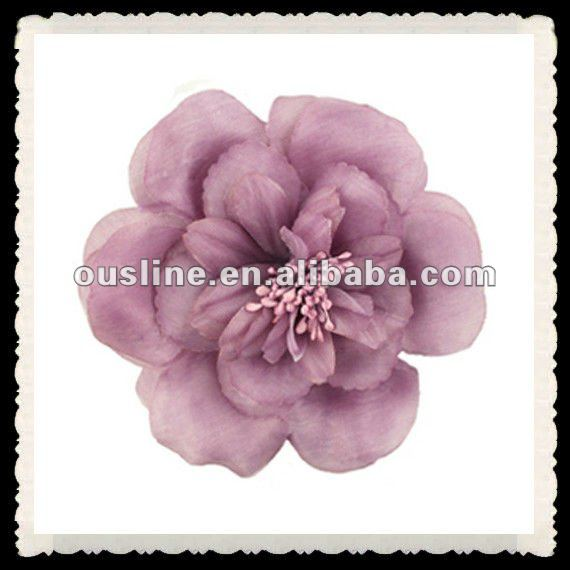 lilac decorative artificial peony flower for girls