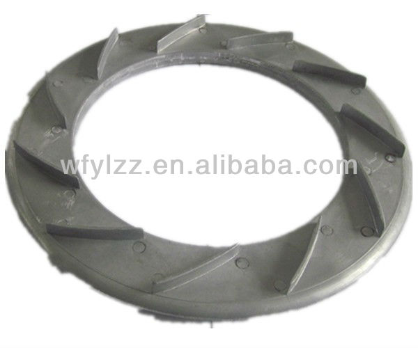 Investment vacuum casting diffuser used for rc jet engine