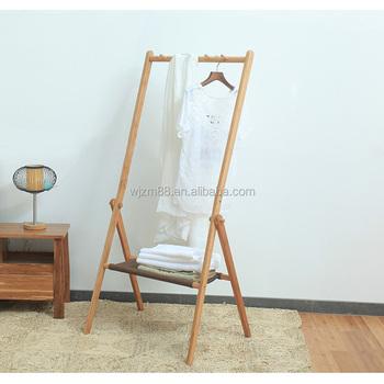 Bamboo Clothes Hanger Rack StandFreestanding Coat Rack Hat Hanger Impressive Coat Hanger Rack