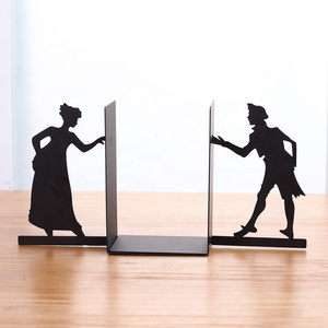 2019 China factory custom cheap adjustable book stand man and women design metal book ends