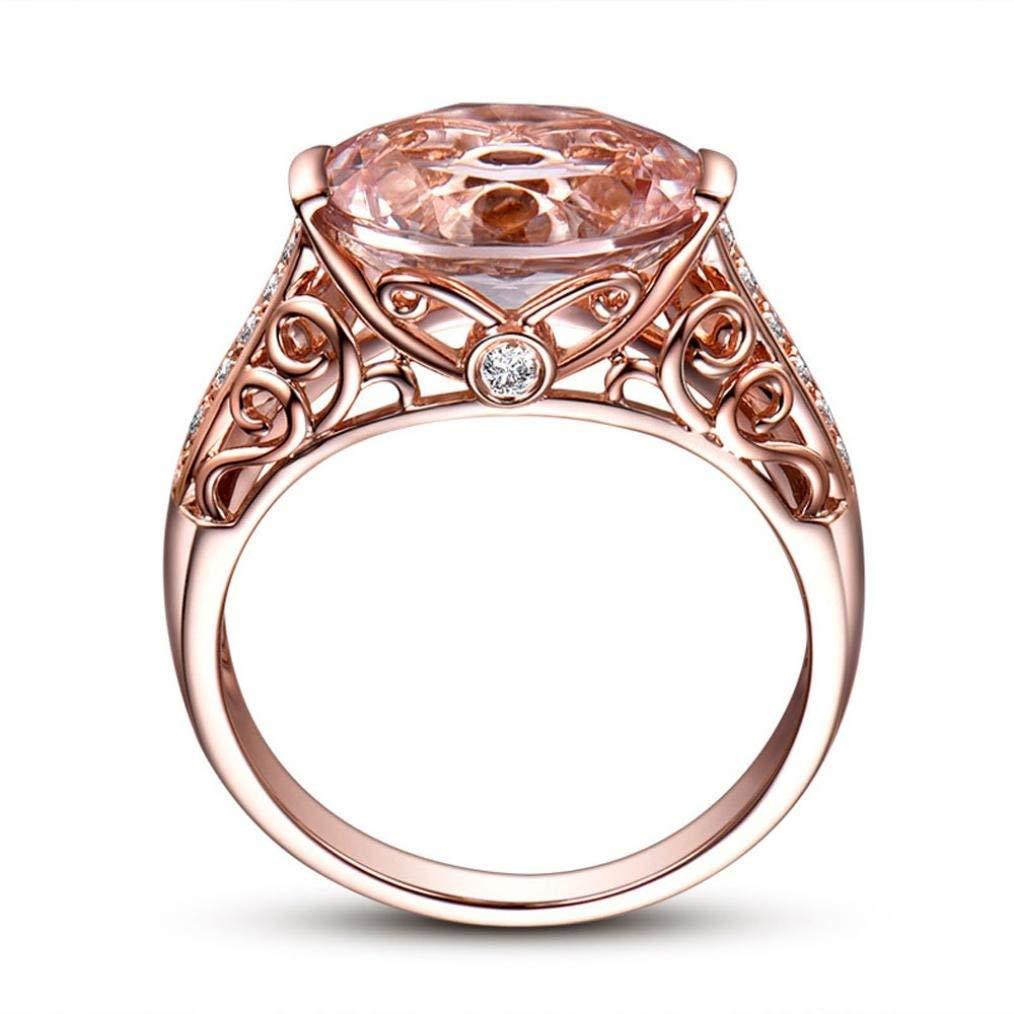 Hot Sale Rings Daoroka Women Gemstones Bride Wedding Engagement Princess Rings Jewelry Gift For Women Girl (7, Rose Gold)