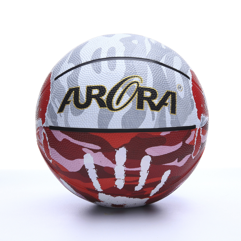 Hot sales colorful rubber  basketball  Size 5 custom printed logo ball