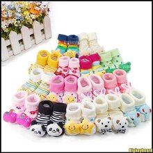 Wholesale Fashion Cute Unisex Cartoon animal non slip Newborn Baby Socks Slipper Shoes Baby Boots 26