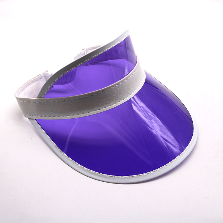 Transparent Plastic Sun Visor Cap UV Protection Summer Beach PVC Sun Visor Hat
