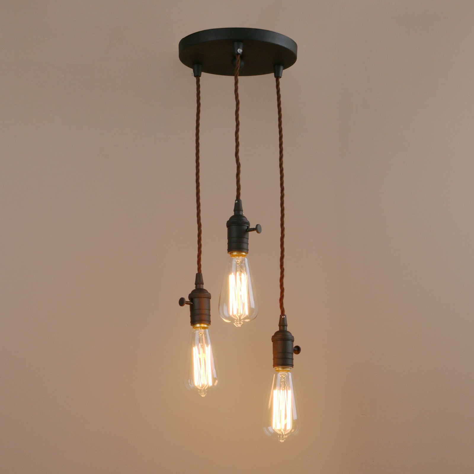 Get Quotations Pathson 3 Lights Pendant Light Fixtures With Vintage Style Simple Home Ceiling Fixture