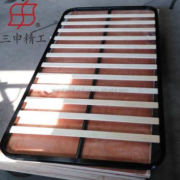 spring bed base board metal frame wooden slatted bed base
