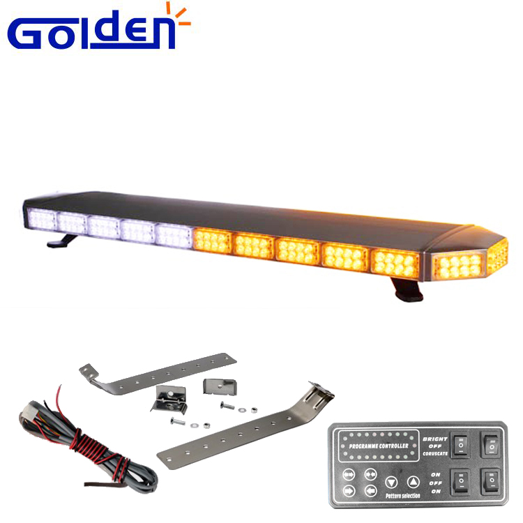 Double layer tir led emergency amber white warning lightbar for emergency vehicle roof top mounting