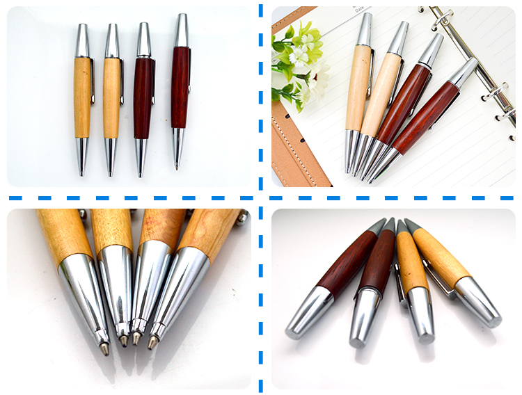 2018 New Design Blanks Wooden Short Ballpoint Pen For Advertising
