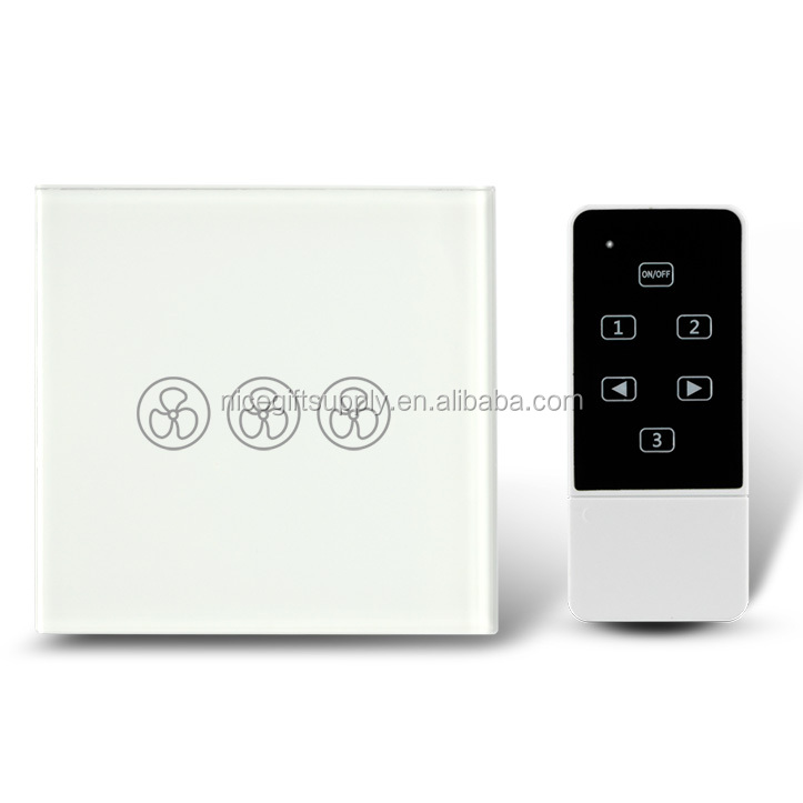 SAA FCC CE ROHS US EU Type Wifi Controlled Remote Touch Fan Speed Switch with 3 Speed Mode for Ceiling Fan Control