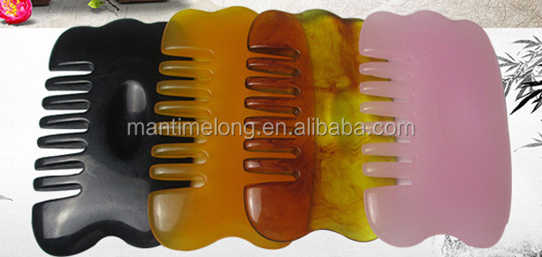 Resin scraping plates scraping comb head massager for hair loss insomnia