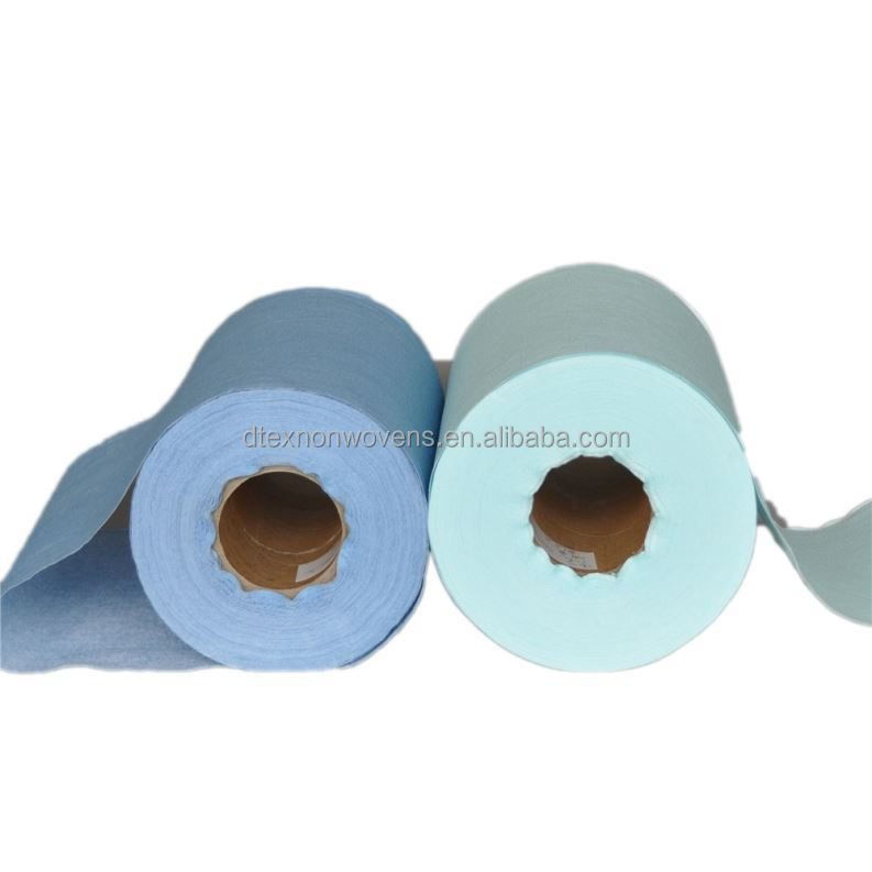 hs code disposable meshed 100% cotton viscose polyester woodpulp spunlace nonwoven fabric rolls towels for wet wipes