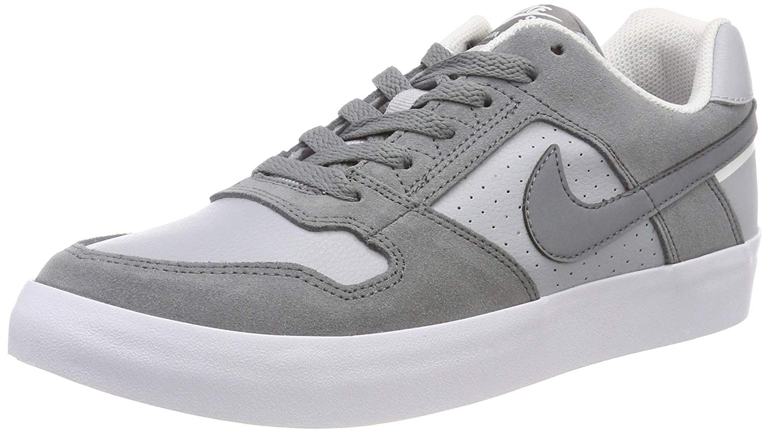 92c98d0c0e05 Get Quotations · Nike Mens SB Delta Force Vulc Cool Grey Wolf Grey White  Size 10