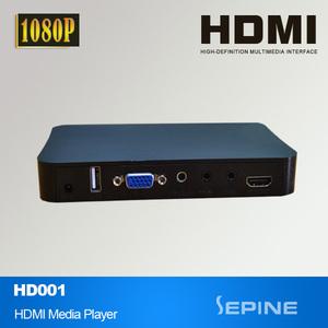 full hd mini media player box 1080p digital signage advertising player