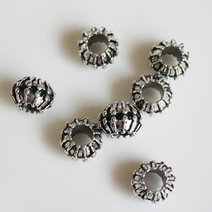 """Barrel"" Charm Spacers for Snake Chain Charm Bracelets"