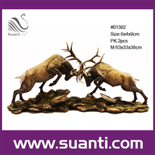 Custom resin modern unique wild deer themed china designer home decor pieces wholesale