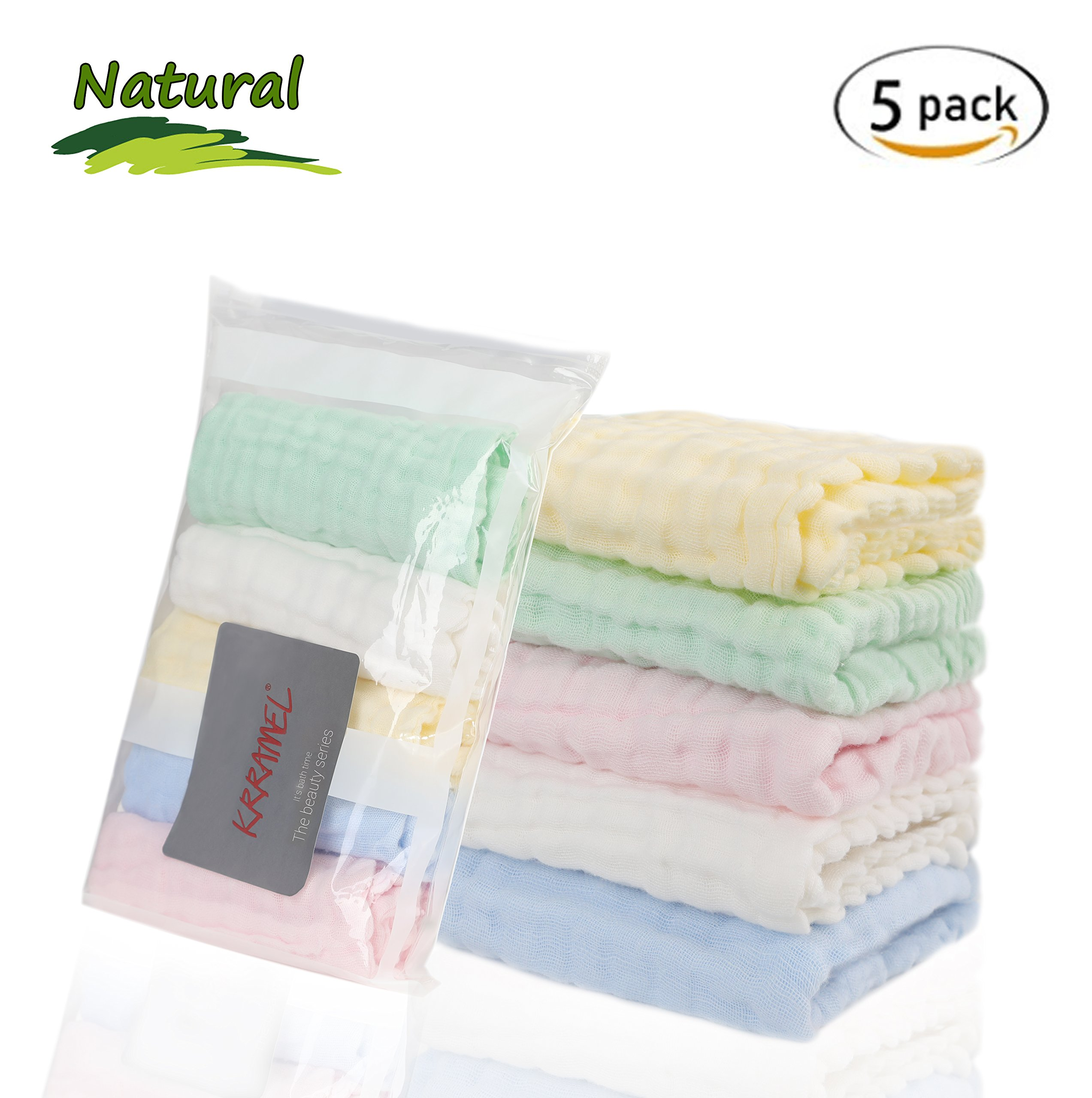 Baby Wash Cloth for Newborn with Sensitive Skin Caiery 1pcs Baby Washcloths Soft 70x140cm Shower Gift for Baby Registry 28 x 55 inch Bamboo Cotton Baby Muslin Washcloth