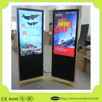 Floor Standing Shopping Mall with Sumsung Vertical Screen 65Inch 1080P Hd Lcd Advertising Player/Monitor/Digital Signage/Display